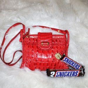 BRAHMIN crocodile crossbody purse